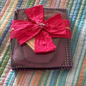 Cross body small purse with change purse.